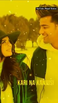 Whatsapp status Video in Punjabi Tera Mera Viah Full screen Song status